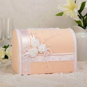 Коробка для денег «Арго», персик, неразборная 3183861