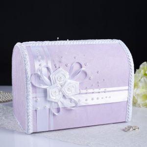 Коробка для денег «Арго», сирень, неразборная 3183863