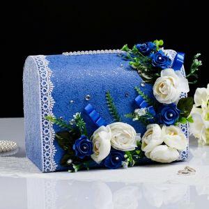 Коробка для денег «Астрид», синяя, неразборная 3183872