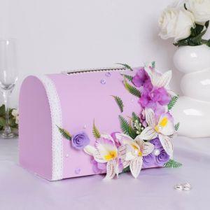 Коробка для денег «Астрид», сирень, неразборная 3183873