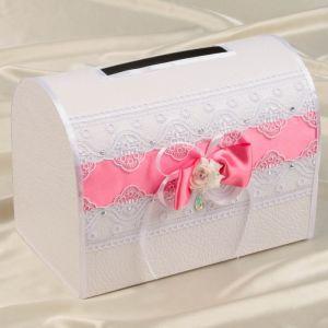 Коробка для денег «Аэлита», ярко-розовая, неразборная 3183887