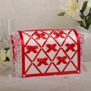 Коробка для денег «Бант», красная, неразборная 3041706