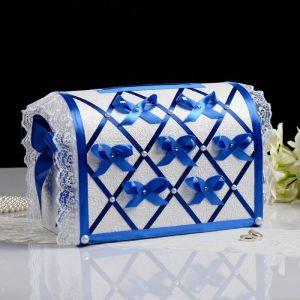 Коробка для денег «Бант», синяя, неразборная 3183893