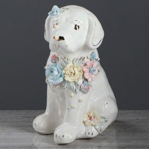 "Копилка ""Собака Бобик"", глянец, белый цвет, 23 см, микс"