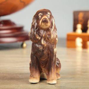 """Копилка """"Собака Спаниель"""", , коричневый цвет, 13 см"""