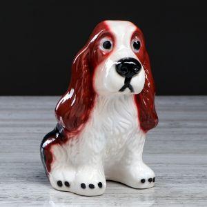 """Копилка """"Собака Спаниэль"""", глянец, коричневый цвет, 19 см"""