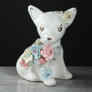 """Копилка """"Чихуа хуа"""", глазурь, белый цвет, 15 см"""