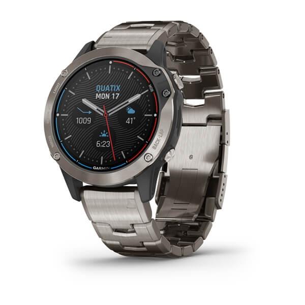 Часы Garmin QUATIX 6 Sapphire титановый с титановым ремешком