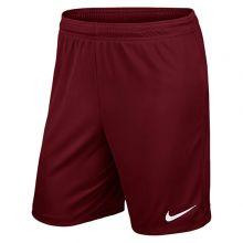 Игровые шорты Nike Park II Knit без подкладки бордовые