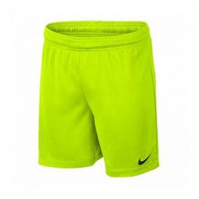 Детские игровые шорты Nike Park II Knit без подкладки салатовые