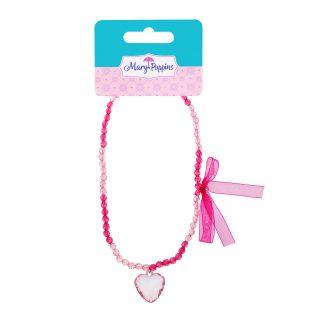 """Ожерелье с брелоком """"Розовое сердце"""""""