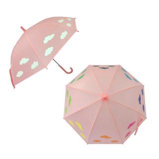Зонт детский  Облака, рисунок проявляется, полуавтомат, 48,5см.