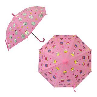 Зонт детский  Пирожное, рисунок проявляется, полуавтомат, 48,5см.