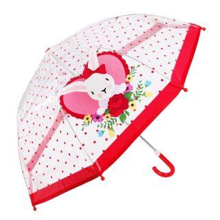 Зонт детский Rose Bunny прозрачный, 46см, коллекция Lady Mary