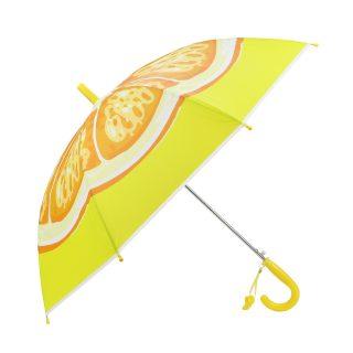 Зонт детский Апельсинка, 48 см, свисток, полуавтомат