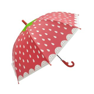 Зонт детский Клубничка, 48 см, свисток, полуавтомат