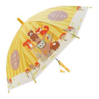 Зонт детский Лесная семейка, 48см, свисток, полуавтомат