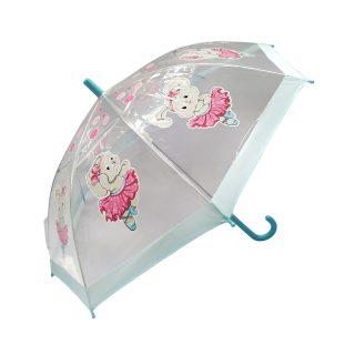 Зонт детский прозр. Зайка танцует, 46 см