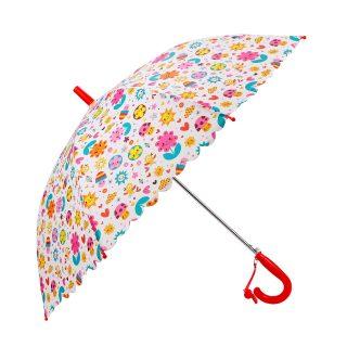 Зонт детский Цветы, 48 см, свисток, полуавтомат