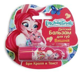 Enchantimals Детский бальзам для губ Вишня с оливковым маслом