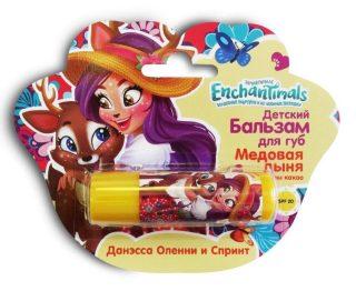 Enchantimals Детский бальзам для губ Медовая дыня с маслом какао