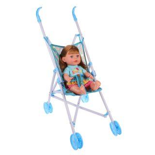 Коляска-трость Звездопад, пластм.с куклой, пакет
