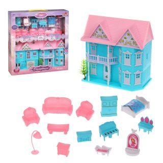 Игровой набор Кукольный домик с мебелью , в компл. 15 предм., кор.
