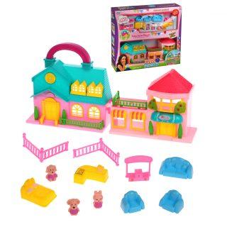 Игровой набор Кукольный домик с питомцами , в компл. 12 предм., кор.