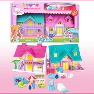 Игровой набор Кукольный домик, в компл.12 предм., кор.