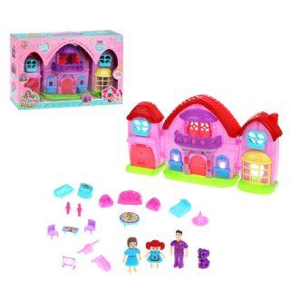 Игровой набор Кукольный домик, в компл.20предм., свет, звук, эл.пит. AG13*3шт.  компл. вх., кор.
