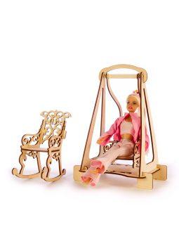 "Конструктор ТЕРЕМОК арт. КМБ-6 ""Качалки для  кукол типа Barbie"""
