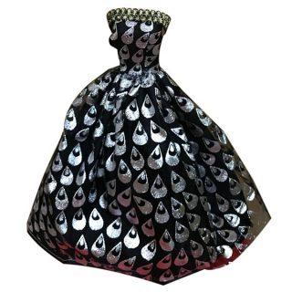 Платье д/куклы 29 см черное, в ассорт., пакет