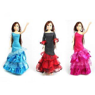 Платье Кармен  д/кукол 29 см, в ассорт., пакет