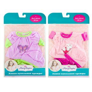 Одежда для куклы 30см, кофточка,  штанишки и шапочка, в асс-те.