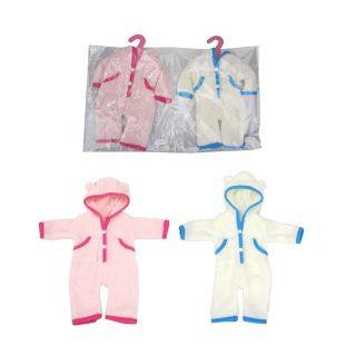 Одежда для куклы 39-45см: комбинезон в ассорт., пакет с вешалкой