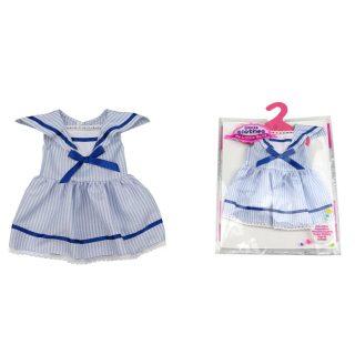 """Одежда для куклы 39-45см: платье """"Морячка"""", пакет с вешалкой"""
