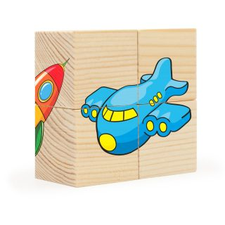Кубики Игрушки, 4 куб.