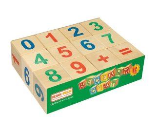 Кубики Веселый счет, 12 шт