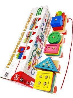Развивающая игрушка Геометрический Паровозик