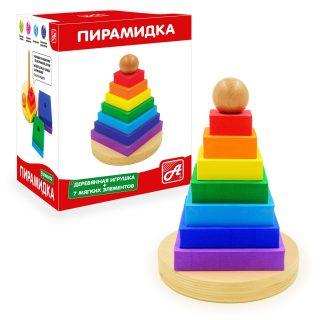 Пирамидка Радуга Квадратики