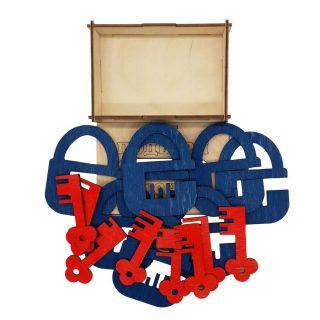 Головоломка Замочки и ключики, набор  5, 16 дет.
