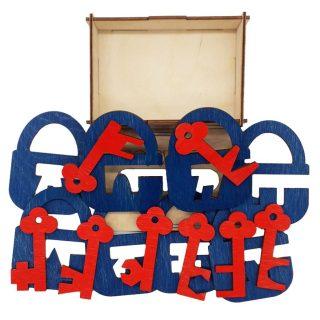 Головоломка Замочки и ключики, набор 4, 16 дет.