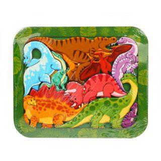 Зоопазл Динозавры 9 дет.