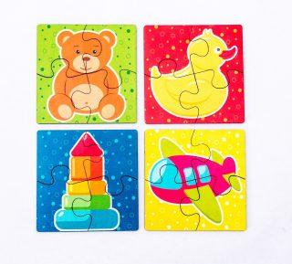 Пазл Игрушки, 4 вида по 4 дет.