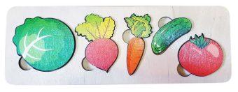 Пазл-рамка для малышей Овощи