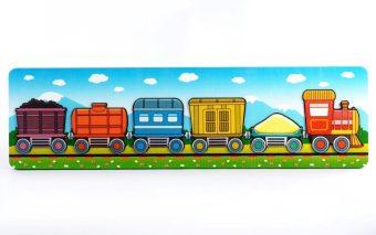 Пазл-рамка для малышей Паровозик с вагончиками