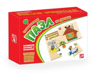 Пазлы деревянные Теремок, (4 пазла в комплекте)