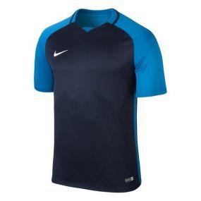 Детская игровая футболка с коротким рукавом Nike Trophy III тёмно-синяя с синим