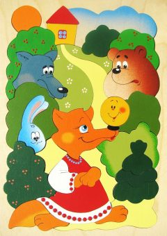 Мозаика-вкладыш дерев. Сказка о Колобке, 33дет.