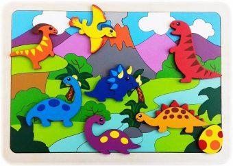 Мозаика-вкладыш Динозаврики, 47 деталей